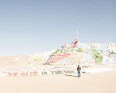 Uwe Langmann (1985-) - Slab City / Salvation Mountain, Salton Sea, California, 2016