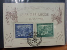 GDR or East Germany, Berlin; Period 1940/1950 - First Day Covers, envelopes, in various conditions.