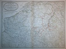 Belgium; Laurie & Whittle - A new map of the Seat of War in the Netherlands - 1797