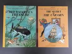 Red RackTintin - 2x Giant albums - The Secret of the Unicorn + Red Rackham's Treasure - American editions - 2x hc - (2012)