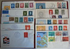 The Netherlands 1954/1959 - Selection FDCs between NVPH E16 and E38