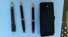 3 Montblanc Pens with Case
