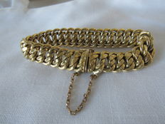 Yellow gold bracelet with american meshes – 18 kt – 37.3 g.