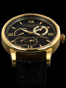 """Calvaneo 1583 """"Valencia II Gold Black"""" mens' automatic watch, new and original packaging"""