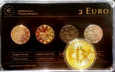 Germany - 2 euro 2014 'Precious Metal' - refined (4 different ones) + medal BitCoin