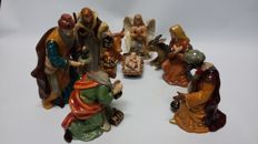 Complete ceramic Nativity set Made in Italy