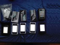 lots of 5 iPhone with battery charger  2G 8GB + 3G 8GB + 4 8GB + 4 16GB + 4S 16GB