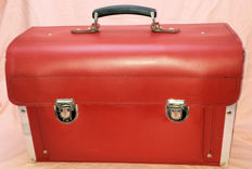 Bright red leather toolbox for your (red?) classic car