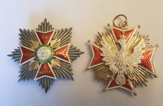Order of the White Eagle + Star of the Order - the highest Polish decoration