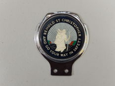"Vintage St Christopher Renamel 70's 80's Chrome Car Badge in Superb Condition 4.25"" x 3.75"" approx"