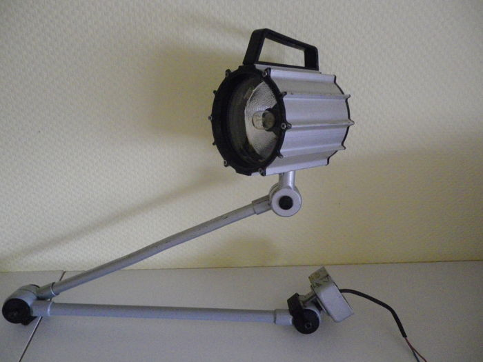 Waldmann Tool Machine Industrial Lamp 2 Articulated Tubular Arms
