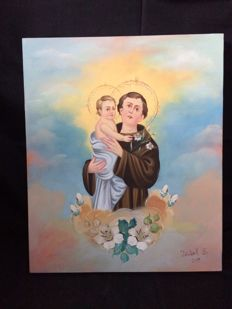 Saint Anthony Paint - Signed - Portugal - 2011