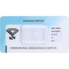 0.15 ct brilliant cut diamond, D SI1