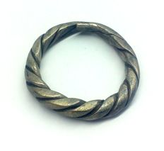 Early medieval scandinavian Viking silver twisted wirework ring - 17 mm 2,84 gr