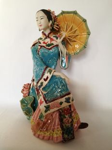 "Chinese Shiwan ware statue ""Summer"" - China - Second half 20th century"