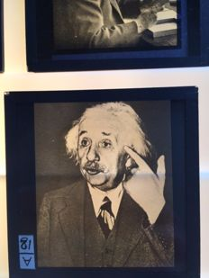 Glass slides - Universe - Lecture - Einstein - Professors - Telescope - Haverd - Moon - Earth - 1930