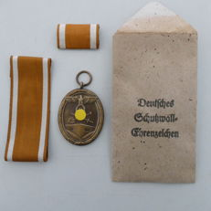 German defence medal 1939 with manufacturer no. 84, WW2