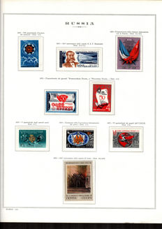 Russia - CCCP - 1975/80 - Selection of stamps on album sheets