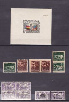 Spain 1938 - Spanish Republic.  Set of complete series - Edifil 755, 761–2, 764, 787–8, 787–8sd