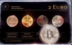 Germany - 2 Euro 2009 'Precious Metal' - refined (4 different ones) + medal BitCoin
