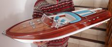 Large Riva Aquarama model boat, 95cm
