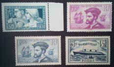France 1928/36 - Selection of 4 stamps - Yvert No. 252, 296, 297 and 299