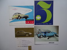 1957 - 1967 - CITROEN ID 19 Saloon & Break - mixed lot of 4 original sales brochures