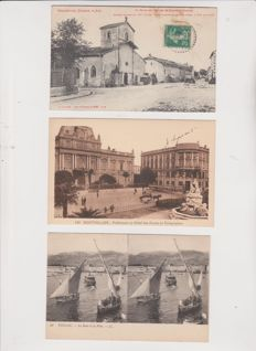Lot of 600 old postcards of France and Europe