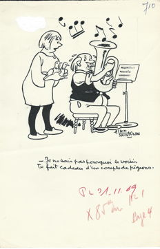 Saint-Ogan, Alain - 3 Original Cartoons (1969 to 1970)