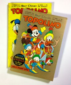 "2x albums ""Topolino"" - Speciale Natale 1955 and issue no. 158 from 1957"