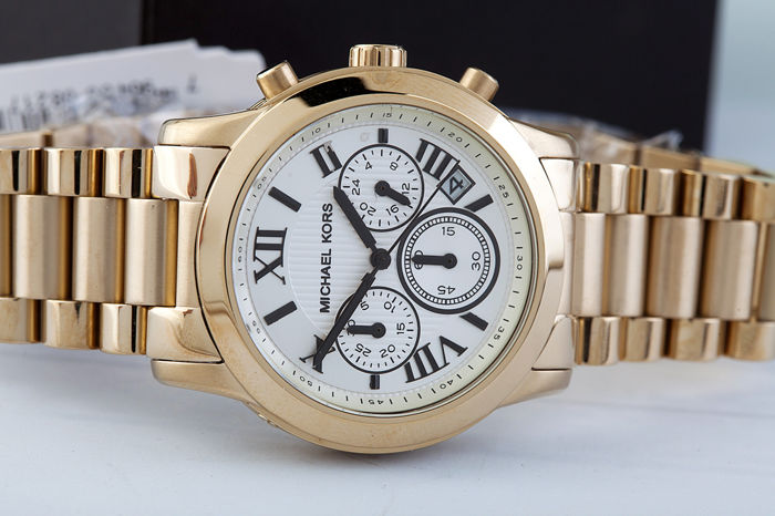 michael kors chronograph wristwatch in unused condition 2017 catawiki. Black Bedroom Furniture Sets. Home Design Ideas