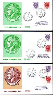 Republic of Italy 1970-1998 - Collection of 250 FDC, pre-franked post cards and aerogrammes