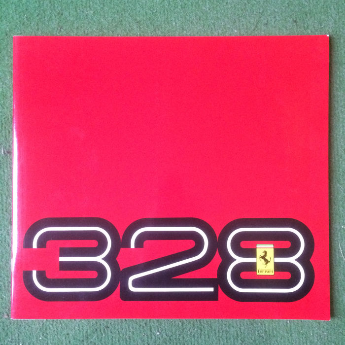 Presentation catalogue of the Ferrari 328 GTB & GTS