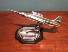 Large Chrome, Jet Fighter Petrol Lighter, USA, c. 1956