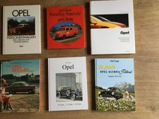 6 very fine books about opel