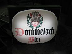 Beautiful and very large (85cmx75cm) illuminated advertising sign for Dommelsch Bier (beer).