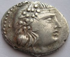 "Greek Antiquity - Island  off Epyrus Korkyra  229-48 b.C. silver Stater ""Dionysios and Pegasos"""