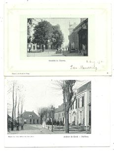 Lot with postcards of Dutch villages and towns, 84x