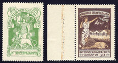 The Netherlands 1916 - Internment stamps - NVPH IN1 and IN2