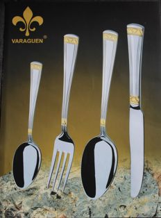 VARAGUEN - Luxury cutlery set of 72 pieces - 23/24 carat gold plated.