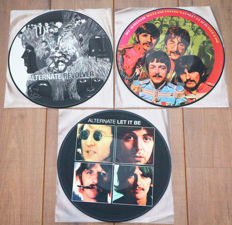 The Beatles- Great lot of 3 classic albums, all alternate picture disc lp's: Revolver, Sgt. Pepper's Lonely Hearts Club Band & Let It Be