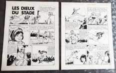 "Sidney - 2 Original Plates in India ink - ""Les Dieux du stade"""