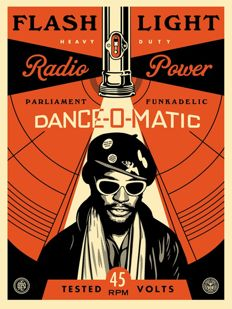 Shepard Fairey (OBEY) - George Clinton Flash Light
