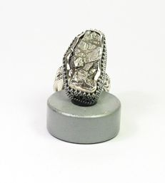 Ring with meteorite Campo del Cielo / inner diameter 16.5 mm