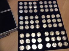 United States - ½ Dollars and Dollars commemoration coins, complete from 1982 to 2017 (199 pieces in total)