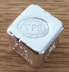 USA:  YPS Yeager's Poured Silver - 2 oz Silver Cube
