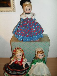 "Madame Alexander 8""Dolls (bent knee) (Lot of 12 dolls) From 1965"