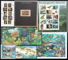 Thematic Nature in Miniature - Collection of Stamp sheets and stamp blocks