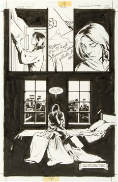 Original Art Page by Stuart Immonen and Jose Marzan Jr. Action comics #752 (DC, 1999)