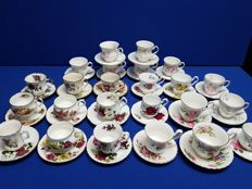 Royal Albert, Duches, Balmoral, Old Foley, English cups and saucers 24 x